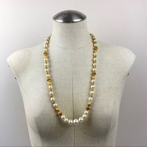 Vintage Faux Pearl Beaded Necklace